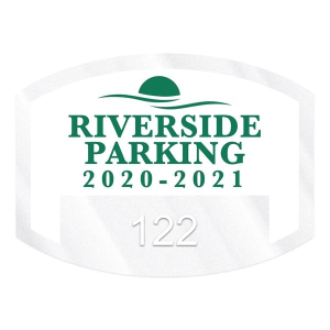 Curved Rectangle Clear Static Numbered Inside Parking
